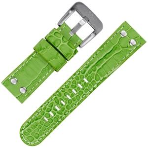 TW Steel Uhrenarmband Grün Krokoprint 22mm