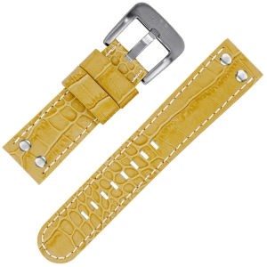 TW Steel Uhrenarmband - Beige Krokoprint 22mm