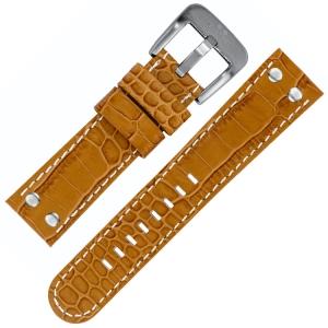 TW Steel Uhrenarmband - Camel Kalbsleder Krokoprint 22mm