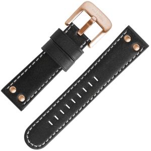 TW Steel Uhrenarmband TW417, TW419 Schwarz 24mm