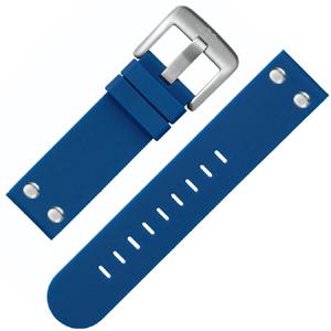 TW Steel Uhrenarmband TW500 Gummi Blau 22mm
