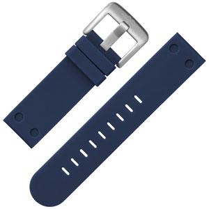 TW Steel Uhrenarmband Gummi Dunkelblau 22 mm
