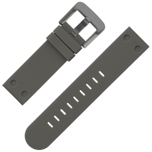 TW Steel Uhrenarmband Gummi Grau 22 mm