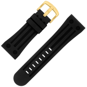 TW Steel Goliath Uhrenarmband TW108, TW110, TW114 - Gummi Schwarz 30 mm