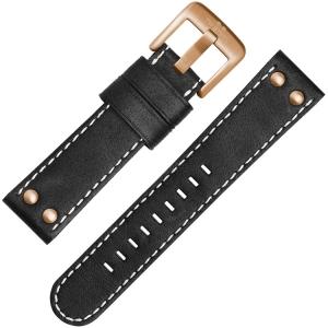 TW Steel Uhrenarmband CS72, CS74 Schwarz 24mm