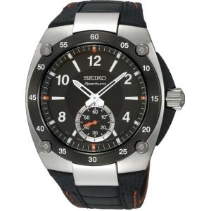 Seiko Sportura Uhrenarmband SRK023P2 Leder Schwarz