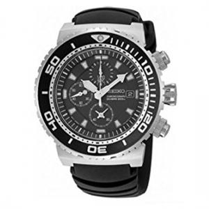 Seiko Chronograph Diver Uhrenarmband SNDA13P2 Gummi Schwarz