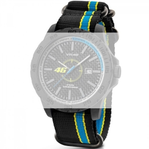 TW Steel VR10 Valentino Rossi VR|46 Uhrenarmband - Nylon Schwarz 22mm