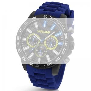 TW Steel VR110 Valentino Rossi VR|46 Uhrenarmband - Gummi Blauw 22mm
