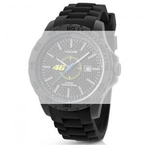 TW Steel VR8 Valentino Rossi VR|46 Uhrenarmband - Gummi Schwarz 22mm