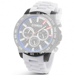 TW Steel Y116 Yamaha Factory Racing Uhrenarmband - Gummi Weiss 22mm