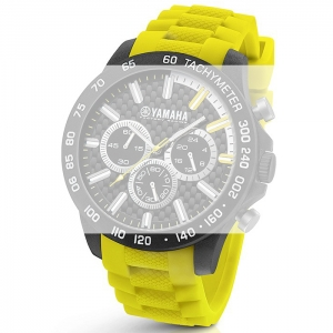 TW Steel Y120 Yamaha Factory Racing Uhrenarmband - Gummi Gelb 22mm