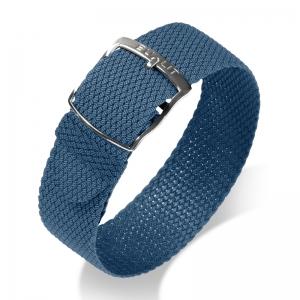 Eulit Perlon Uhrenarmband Kristall Blau