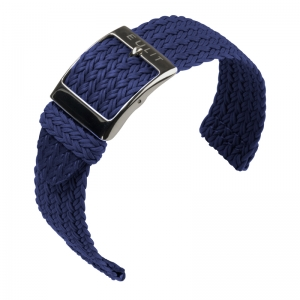 Eulit Two Piece Perlon Uhrenarmband Palma Pacific Marineblau
