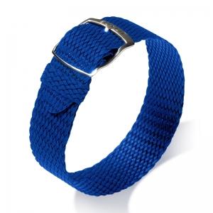 Eulit Perlon Uhrenarmband Panama Blau