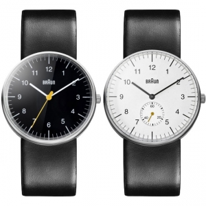 Braun Uhrenarmband für BN0021BKBKG und BN0024WHBKG - Leder Schwarz