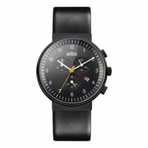 Braun Uhrenarmband für BN0035BKBKG - Leder Schwarz