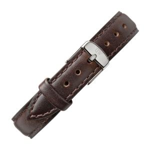 Daniel Wellington 12mm Petite Bristol Uhrenarmband Leder Dunkelbraun mit Stahlschliesse