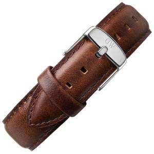Daniel Wellington 18mm Classic Bristol Uhrenarmband Leder Dunkelbraun mit Stahlschliesse