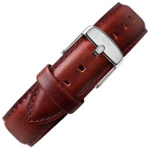 Daniel Wellington 20mm Classic Bristol Uhrenarmband Leder Dunkelbraun mit Stahlschliesse