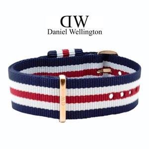 Daniel Wellington 20mm Classic Canterbury NATO Uhrenarmband mit Roségoldfarbiger Schliesse
