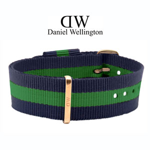 Daniel Wellington 20mm Classic Warwick NATO Uhrenarmband mit Roségoldfarbiger Schliesse