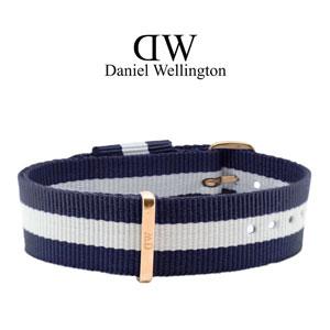 Daniel Wellington 18mm Classic Glasgow NATO Uhrenarmband mit Roségoldfarbiger Schliesse