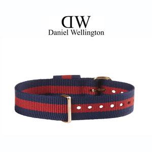 Daniel Wellington 13mm Classy Oxford NATO Uhrenarmband mit Roségoldfarbiger Schliesse