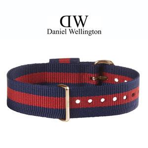 Daniel Wellington 18mm Classic Oxford NATO Uhrenarmband mit Roségoldfarbiger Schliesse