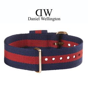 Daniel Wellington 20mm Classic Oxford NATO Uhrenarmband mit Roségoldfarbiger Schliesse