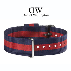 Daniel Wellington 20mm Classic Oxford NATO Uhrenarmband mit Stahlschliesse