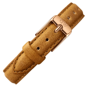 Daniel Wellington 12mm Petite Durham Uhrenarmband Leder Braun mit Roséschliesse