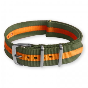 Grün Orange NATO Uhrenarmband Nylon