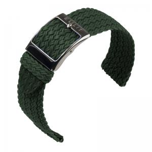 Eulit Two Piece Perlon Uhrenarmband Palma Pacific Grün