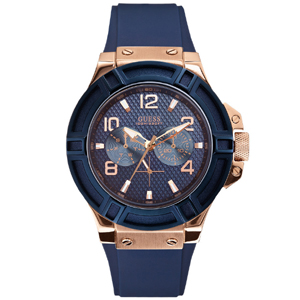 Guess Uhrenarmband W0247G3 Rigor - Gummi Blau