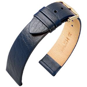 Hirsch Calf Uhrenarmband Blau