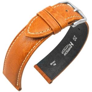 Hirsch Camelgrain Uhrenarmband No Allergy Honig