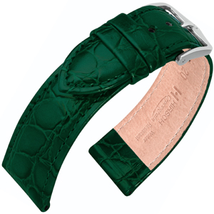 Hirsch Crocograin Uhrenarmband Grün