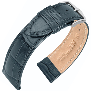 Hirsch Duke Uhrenarmband Alligatorgrain Grau