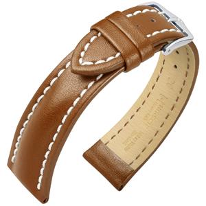 Hirsch Heavy Calf Uhrenarmband Water Resistant Goldbraun