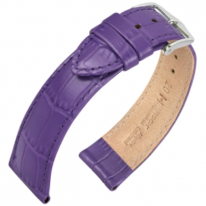 Hirsch Louisianalook Alligatorprint Uhrenarmband Fuchsia
