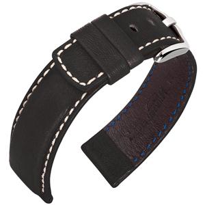 Hirsch Mariner Uhrarmband 100m Wasserfest Schwarz