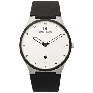 Danish Design Uhrenarmband Typ IQ12Q884, IQ13Q884 Leder Schwarz