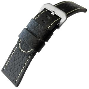 Kalbsleder Uhrenarmband Lenzers Schwarz