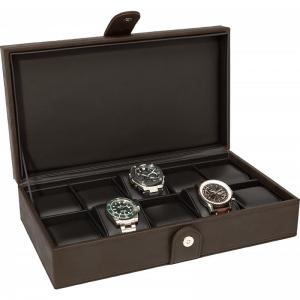 La Royale Classico 10 Uhrenbox Braun - 10 Uhren