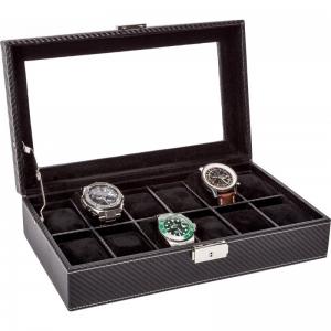 La Royale Classico 12 Carbon Uhrenbox mit Fenster - 12 Uhren