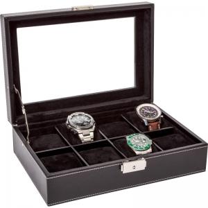 La Royale Classico 8 Uhrenbox XL mit Fenster - 8 Uhren