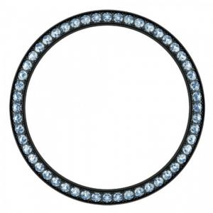Marc Coblen Lünette 42mm Schwarzer Stahl Blauer Kristallrand - MCB42B211