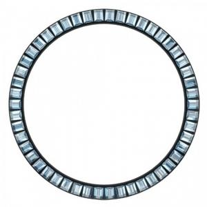 Marc Coblen Lünette 45mm Schwarzer Stahl Blauer Kristallrand - MCB45B211