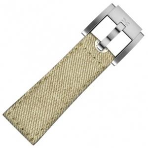 Marc Coblen / TW Steel Uhrenarmband Khaki Denim auf Leder 22mm